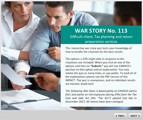CAMICO War Story #113